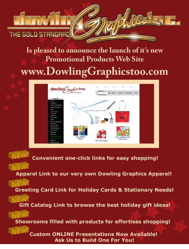 Dowling Graphics, Inc. Web Site Launch Announcemen
